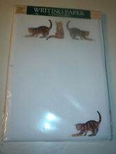 OTTER HOUSE WRITING PAPER CATS ON A SHOESTRING (TABBY CATS)  20 SHEETS & ENV