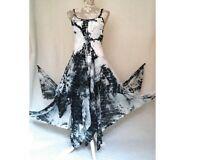 Tie dye dress, hippy dress, pagan goth medieval steampunk corset 8 10 12 14