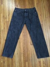 Levis 562 Loose Tapered Button Fly Black Men's Jeans 33x30 Excellent Condition
