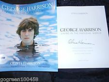 Olivia Harrison signed book Living in a Material World George Beatles 1/1 HC/DJ