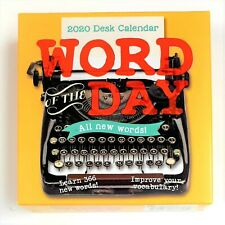 2020 Word of the Day Daily Desk Calendar - Improve Your Vocabulary - New