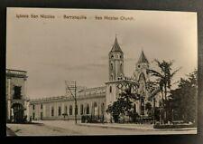 Mint Vintage San Nicolas Church Barranquilla Columbia Real Picture Postcard
