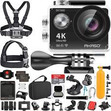 AKASO EK7000 4K WiFi Action Camera Waterproof Wireless Remote Sports Kit Black