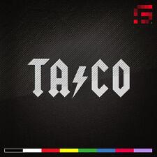 TACO Decal, Sticker | FUNNY | AC/DC Parody, JDM | Choose Color