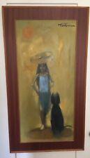 "Thomas W. Quinn Original Oil Painting on Board 17"" x 35"" Irish Artist (1918)"
