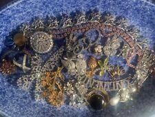 vintage rhinestone jewelry lot for craft r repurpose