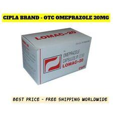 CIPLA LOMAC-20 OTC OMEPRAZOLE 20MG 300 Capsules Free Shipping Worldwide EXP: