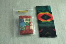 2 Vintage hand made Small/Doll House Indian Rugs/Blanket ExcellentCondition!xmas
