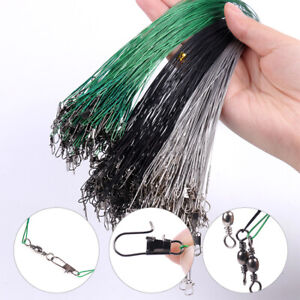 1pc Anti-bite Line Fishing Leash Stainless Steel Wire Rolling For Lure Leadcore