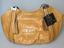B. MAKOWSKY Nutmeg Leather PHOENIX E/W  Handbag Bag NEW NWT MSRP $168
