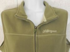 Life Is Good Women's Size M Full Front Zip Green Color Vest