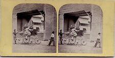 Scène de genre Carriole France USA Vintage albumine ca 1870