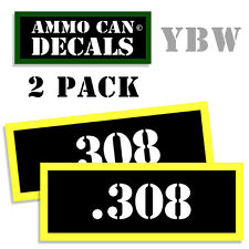 .308 Ammo Label Decals Box Stickers decals - 2 Pack BLYW