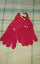 PUMA ADULTS KNITTED PINK BEETROOT GLOVES SIZE M/L FREE UK P&P