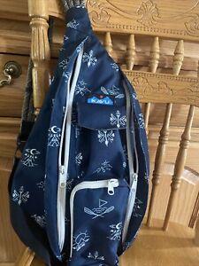 Kavu Sling Rope Bag NAVY CAMPER Retired