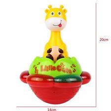 Cartoon Light Music Projection Giraffe Tumbler Baby Kid Early Education Toy Gift