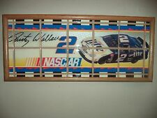 Rusty Wallace Ceramic Tile Framed Picture ONE OF A KIND 23 X 10