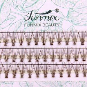 10D Mink False Eyelashes Extension Faux Natural Soft Individual Lashes Premade