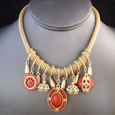 NEW Urban Anthropolo​​gie Grand Lux Red Golden Necklace