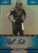 2016 Leaf US Army Metal Matt Farniok NEBRASKA Blue Autograph # 38/50
