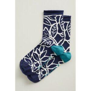 Seasalt Women's Arty Socks - Penrose Blooms Yacht - UK 3-8 - BNWT