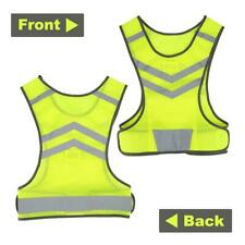 Safety Security Reflective Vest Stripes Jacket High Visibility Night Running