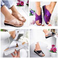 Summer Womens Comfy Platform Sandal Slippers Loafer Flip Flop Mules Shoes Sizes