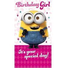 MOI, MOCHE ET MÉCHANT / LES MINIONS / Carte D'anniversaire - anniversaire GIRL