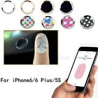 Lot Aluminium Cartoon Home Button Sticker For iPhone 6 Plus 5S Support Touch ID
