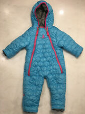 Rugged Bear Quilted Snowsuit baby girl size 12 months blue fold over cuffs (M14)