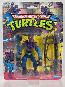"""Vintage 1988 TMNT 10-Back Foot Soldier 5"""" Figure Sealed Original Ninja Turtles"""