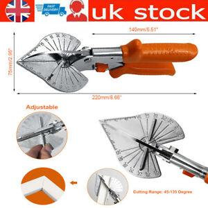 Multi Angle Cutter Mitre Shears Gasket Cutter Trim Bead Snips Steel Blade Tools