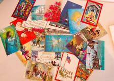 Vintage Box/20 Asst Christmas Greeting Cards/Envelopes Veterans of Foreign Wars