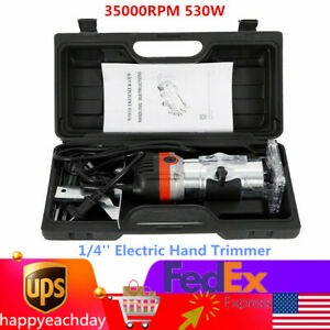 1/4'' Electric Hand Trimmer Wood Laminate Palm Router Joiner Tool 30000RPM 800W