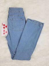 Riders by Lee Womens Jeans 12L Long No Gap Waist Boot Cut Denim Light Blue Wash
