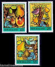 Christmas, Festival, Fruits, Rooster, New Zealand 1986 MNH 4v (J148)