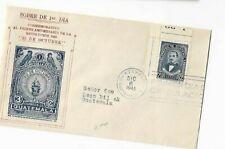 Guatemala - FDC 1945 - Jose Milla y Vidaurre