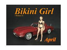 APRIL BIKINI CALENDAR GIRL FIGURE FOR 1/18 SCALE MODELS AMERICAN DIORAMA 38168