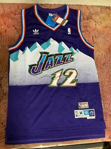 LDFN Jersey Baloncesto Utah Jazz John Stockton Hardwood Classics Alero-Heimtrikot Herren S-XXL