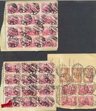 DR 3 Paketkarten mit Massenfrankaturen der 114-115 (us264)
