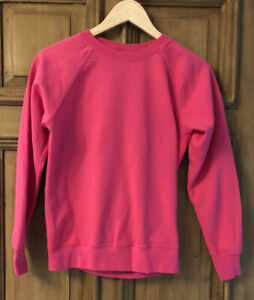 Fruit of the Loom Plain Pink sweatshirt Size XS