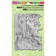 Stampendous Rubber Stamps - Gnome Home - Gnomes, Fairies, Fairy, Treehouse