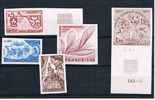 Francia. 5 sellos de Francia sin dentar (Pruebas de Lujo)