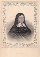 1840 Vittoriano Stampa ~ Ritratto Di Milton