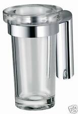 Bristan John Sydney Aqueous Quality Chrome & Glass Tumbler / Toothbrush Holders