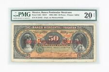 1898-1904 Mexico 50 Peso VF-20 NET PMG Banco Peninsular Mexicano Very Fine S461
