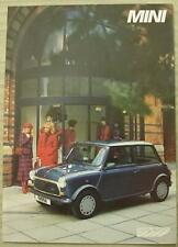 MINI E & MAYFAIR Car Sales Brochure 1986 FRENCH TEXT #EO259/A