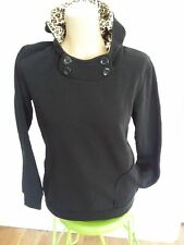 BnWT..Chic Womens Hoodie,Jumper  Black /Animal Print,L 10-16.Long sleeve