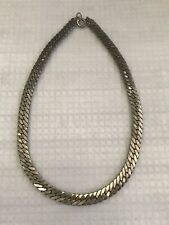 Antique Stunning Solid Silver Link Chain Necklace