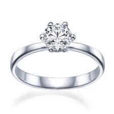 Anelli con diamanti oro bianco taglio excellent VS1